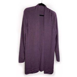 HAIDER ACKERMANN | Wool Silk Purple Cardigan Medi